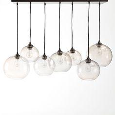 "Glass Orb Chandelier - Luster | West Elm 42.25""w x 17.25""d x 31""h. 106-44-79"
