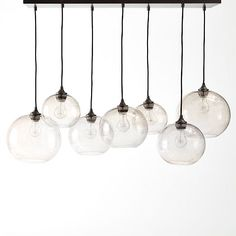 "Glass Orb Chandelier - Luster | West Elm 42.25""w x 17.25""d x 31""h. 106-44-79"