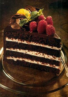Chocolate cake piece pic | Cakes Sweets and Food pics