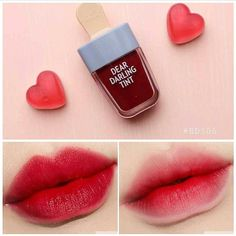Etude House Dear Darling Water Gel Tint_Ice Cream - Best Picture For party Makeup For Your Taste You are looking for something, and it is going to te - Cute Makeup, Lip Makeup, Makeup Cosmetics, Beauty Makeup, Makeup Stuff, Beauty Skin, Korean Lip Tint, Korean Lips, Avon Products