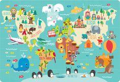 Martina Hogan - Childrens World Map