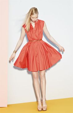FUN!  Suzi Chin for Maggy Boutique Pleated Dress - Nordstrom  (And it comes in blue and purple too.)