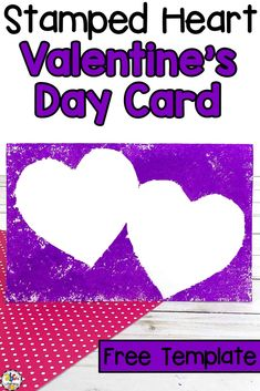 Valentine's Day is the perfect time for kids to create special crafts and handmade greeting cards for their family and friends.  This Stamped Heart Valentine's Day Card Craft is so easy for young children to create and a thoughtful gift that your loved ones will cherish. Click on the picture to learn how to make this special Valentine's Day craft for kids and get the free card template! #valentinesdaycraft #craftforkids #valentinesdaycraftforkids #valentinesdaycard #homemadecardcraft #heartcraft