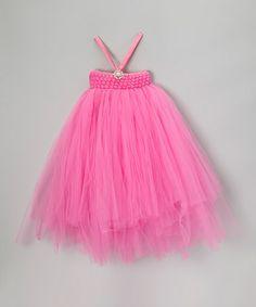 Look what I found on #zulily! Pink Stretch Bling Tutu Dress - Infant, Toddler & Girls #zulilyfinds