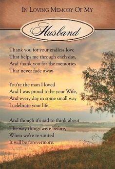 In Loving Memory Of My Husband