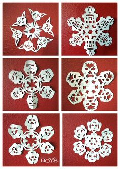 Star Wars Snowflakes! Pretty much the coolest thing I have ever seen.