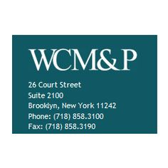 Weinstein, Chase, Messinger & Peters, P.C. 26 Court Street #2100, Brooklyn, NY 11242 Phone: (718) 858-3100 http://www.wcmplaw.com/ At Weinstein, Chase, Messinger & Peters, P.C. , we focus our practice on civil litigation, mainly torts, including personal injury and medical malpractice, and insurance. As a result, we often act as counsel to other attorneys. For more than 30 years, the firm has been particularly well known in the field of medical malpractice.