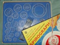 Spirograph!! So cool! Especially witb colored pins!!! BACK IN the (MY) DAY!!