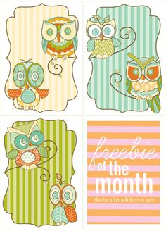 My Owl Barn: Printable and Fillable Owl Recipe Card