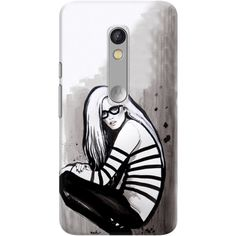 DailyObjects Girl With Glasses And Gaultier Case For Motorola Moto X Play