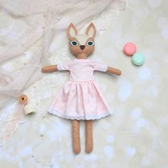Plush fawn Animal stuffed doll Cloth doll Art doll Woodland