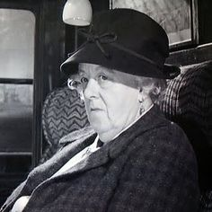 Photo of Miss Marple for fans of Agatha Christie. Dame Margaret Rutherford as Miss Marple in Murder She Said Margaret Rutherford, Agatha Christie, Mrs Marple, Mystery, Hercule Poirot, British Comedy, Comedy Films, Film Serie, Classic Films