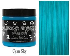 Bright and vivid, our bright colors feature vibrant tones that are highly pigmented to create long lasting glowing color. Cyan Sky is a one-of-a-kind vibrant turquoise hair dye. * This is a semi-permanent turquoise hair dye * Our dyes are non-damaging and Pastel Pink Hair, Hair Color Pink, Hair Colors, Aqua Hair, Yellow Hair, Long Curly Hair, Curly Hair Styles, Turquoise Hair Dye, Color Cian