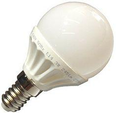 Bombilla LED Esferica 3w casquillo fino E14, Led Epistar Luz Fria 6000K