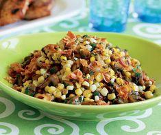 Corn & Mushroom Sauté with Leeks & Pancetta Recipe
