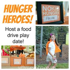 Hunger Heroes: Host a food drive play date!