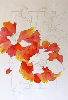 The Painted Prism: WATERCOLOR WORKSHOP: Painting Red Poppies