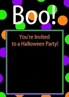 Free Printable Halloween Party Invitations-Fill in your own information