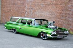 Rat Rods, Classic Trucks, Classic Cars, Station Wagon Cars, Old Wagons, Chevy Impala, Us Cars, Drag Cars, Vintage Bicycles