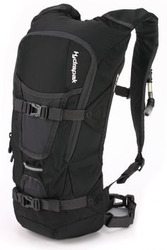 Hydrapak Reyes Hydration Pack--  Picked this up at The Clymb for $45.  Holds 3 liters of water, and has an outstanding design, much better than Camelbaks.  Enough room in the pockets for his 10 essentials, and the hose part has a magnet, so it's always right where you left it, no groping for water.  My only complaint is that it doesn't come with directions on how to put it together, but a quick Google images search helped with that.