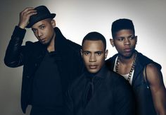 """Empire (Fox Network-September 23, 2015) Season Two - stars (from left) Jussie Smollett, Trai Byers and Bryshere Gray, will welcome """"Men at Work"""" star Adam Busch (not pictured) to Season 2 of the Fox drama,"""