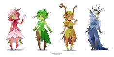 Dryad of the seasons by Koni-art on DeviantArt Fantasy Character Design, Character Design Inspiration, Character Concept, Character Art, Concept Art, Mythical Creatures Art, Fantasy Creatures, Creature Drawings, Creature Design