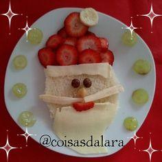 #comidadivertida http://coisas-da-lara.blogspot.com/2014/11/comidinhas-de-natal.html
