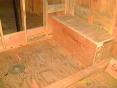 how to build a walk in shower with bench - Google Search