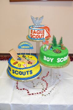 Eagle Scout Cake. If only I'd seen this a few weeks ago... BAD LINK.
