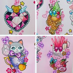 Trendy Tattoos, Cute Tattoos, Girl Tattoos, Kawaii Tattoo, Desenho Tattoo, Dream Tattoos, Cardcaptor Sakura, Disney Tattoos, Step By Step Drawing