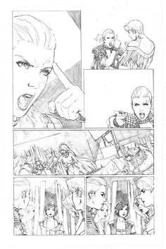 A Force 08 page 06 - Cap. Marvel - Medusa - Dazzler - Singularity - She Hulk - Nico - Paulo Siqueira Comic Art