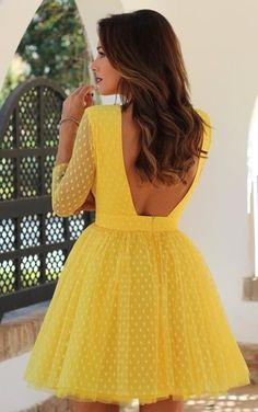 Women Long Sleeve O Neck Mesh Dress 2019 Dots Backless Dress Women''s Short Sexy Dresses Sexy Dresses, Beautiful Dresses, Short Dresses, Fashion Dresses, Mesh Dress, Dress Skirt, Dress Up, Swing Dress, Dress Long