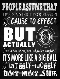 Doctor Who Quote - Wibbly Wobbly Timey Wimey - Time Lord Art by Traci Hayner Vanover