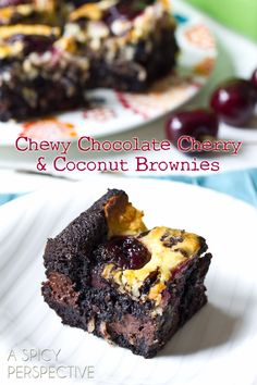 Cherry Coconut Brownies + Giveaway