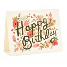 Pretty stationary (Thank You notes and Happy Birthday cards are the best!) in her style. eg. Floral Burst Birthday Cards: Rifle Paper Co.