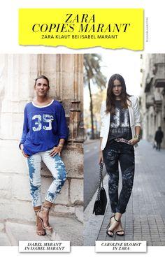 Zara copies Isabel Marant