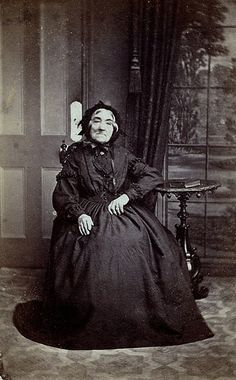Elderly Woman in Mourning, Unmarked Albumen Carte de Visite, Circa 1862. Copyright Ann Longmore-Etheridge Collection | by lisby1