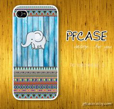 Elephant on wood light blue pattern  Handmade Case for by pfcases, $15.89