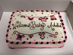 Clothesline Baby Shower Cake  www.peaceloveflour.com