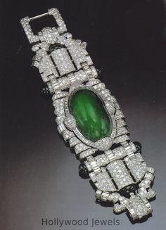 Marlene Dietrich's Trabert & Hoeffer-Mauboussin Emerald And Diamond Bracelet