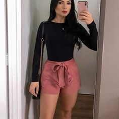 Casual summer outfits ideas chic and spring super outfits Shorts Outfits Women, Basic Outfits, Cute Casual Outfits, Girly Outfits, Mode Outfits, Simple Outfits, Summer Outfits, Fashion Outfits, Winter Outfits