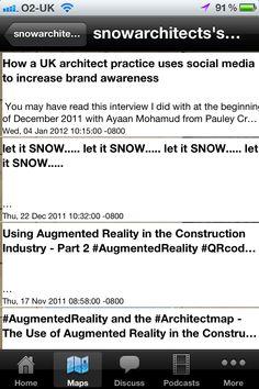 Blog Page - Architect map mini app