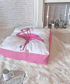 Flamingo Floor Pillow #FloorPillows
