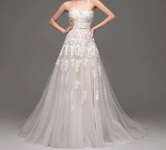 Hochzeitskleid Brautkleid wedding weiß verlobung neu S M L XL
