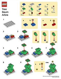 LEGO MMMB - December '10 (Tree) Instructions by TooMuchDew, via Flickr