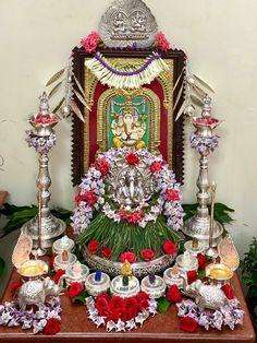 Silver Pooja Items, Christmas Wreaths, Holiday Decor, Home Decor, Decoration Home, Room Decor, Home Interior Design, Home Decoration, Interior Design