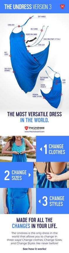 The Undress Version 3 - Change Clothes. Change Sizes. Change Styles. You haven't seen a dress quite like this before!