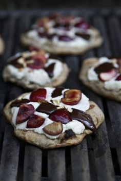 On the Grill: Chocolate Cherry Ricotta Grilled Pizzas