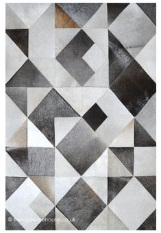 Zaro Grey Rug, a luxury handmade cream, grey & beige cowhide leather rug with a geometric pattern ww Beige Carpet, Diy Carpet, Carpet Tiles, Modern Carpet, Modern Rugs, Rugs On Carpet, Cheap Carpet, Rug Texture, Patchwork Rugs