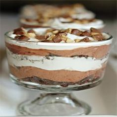 Chocolate Trifle, I have played around a little with the recipe...but love this!